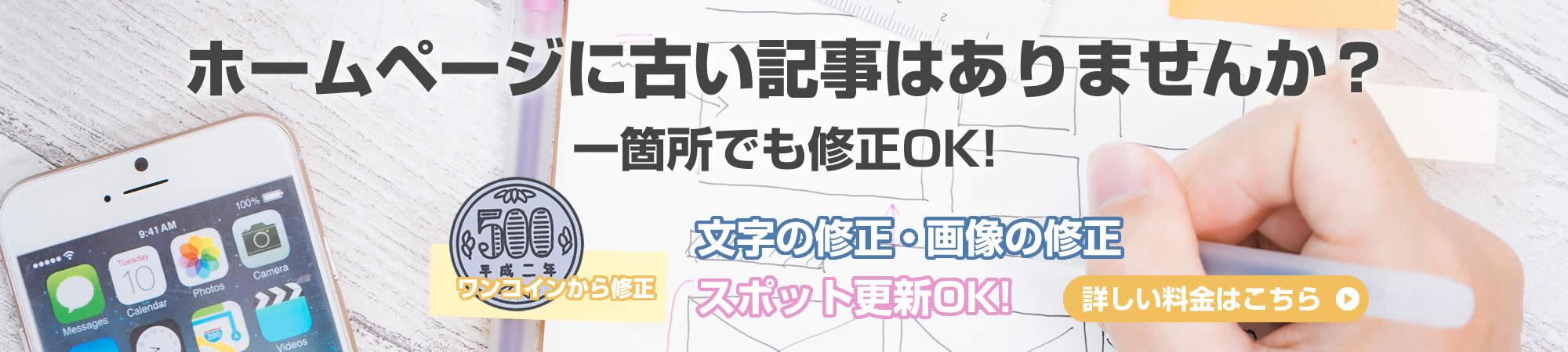 長崎でホームページ更新をしたいなら「低料金でホームページ更新します。」へ